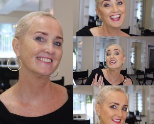 GRAINNE MCCOY, MAKEUP, CANCER PATIENT MAKEUP, CHEMO LOOKING GOOD MAKEUP,
