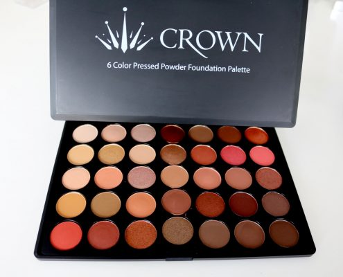 crown pressed powder foundation palette