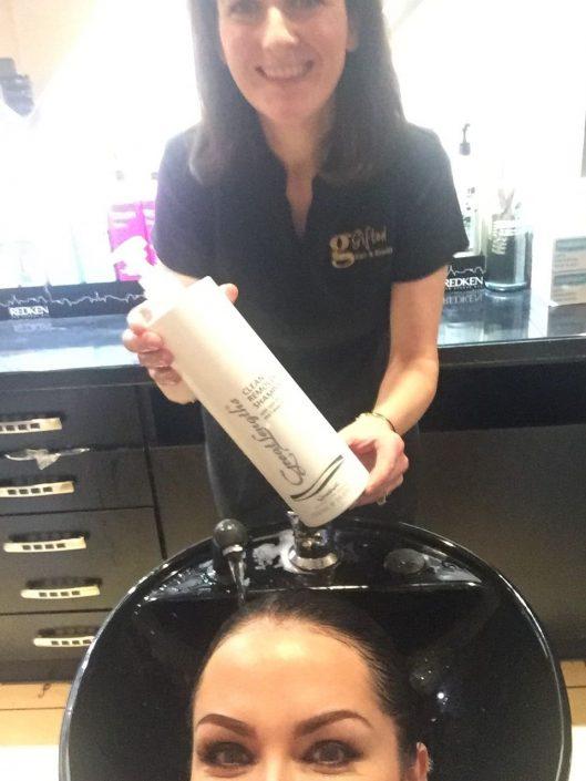 getting hair washed at salon, relaxing, grainne mccoy, hair do, hair extension, makeup artist, tv makeup, film makeup artist