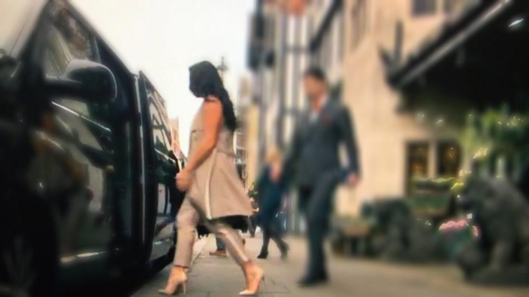 trouser suit business, cream high heel work shoe, grainne mccoy