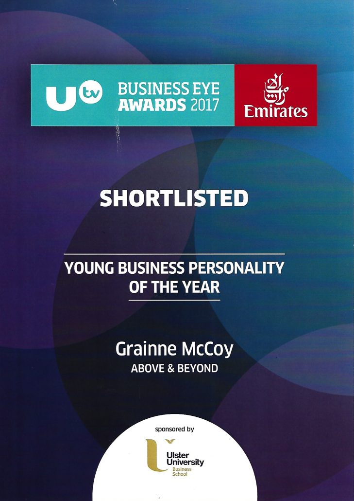 Utv Young Business Personality of the Year 2017, UTV Business Eye Awards 2017, Grainne McCoy